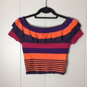 Urban outfitters ruffle crop top